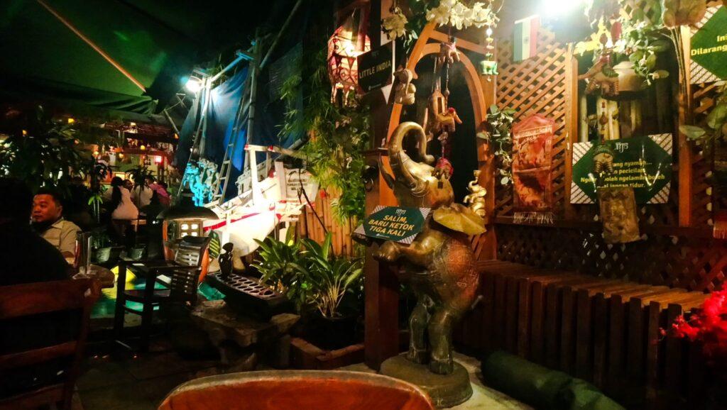 The garden at Warung MJS, Jakarta