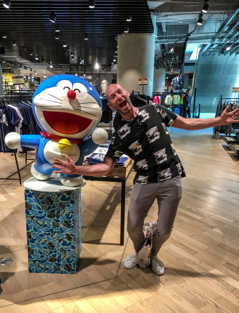Sam and Doraemon at the Grand Indonesia Mall in Jakarta