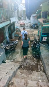Walking through the back streets near the docks in Jakarta