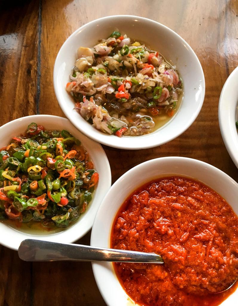 three types of sambal