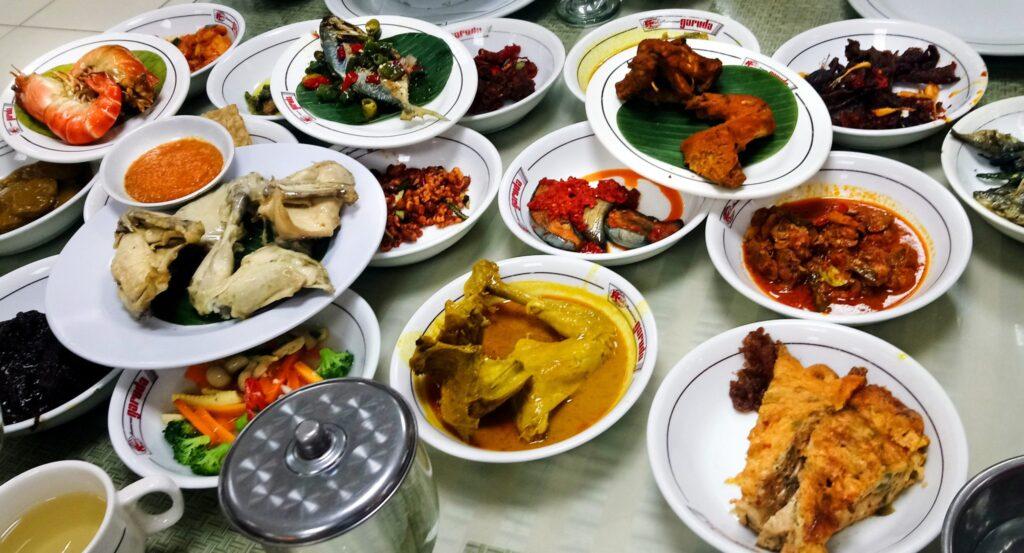 Padang food at Restoran Garuda Sabang
