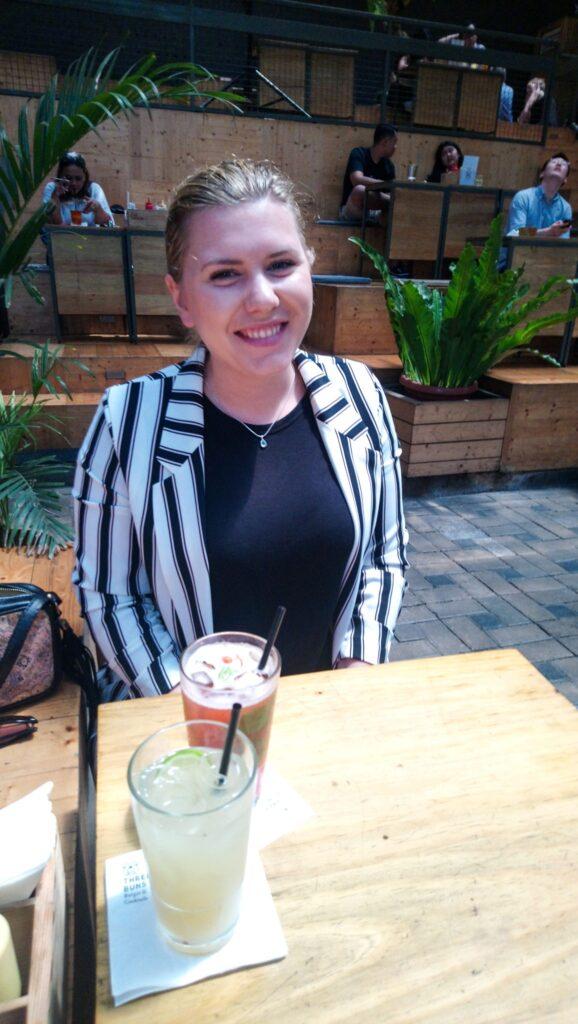 Livia at Three Buns in Jakarta