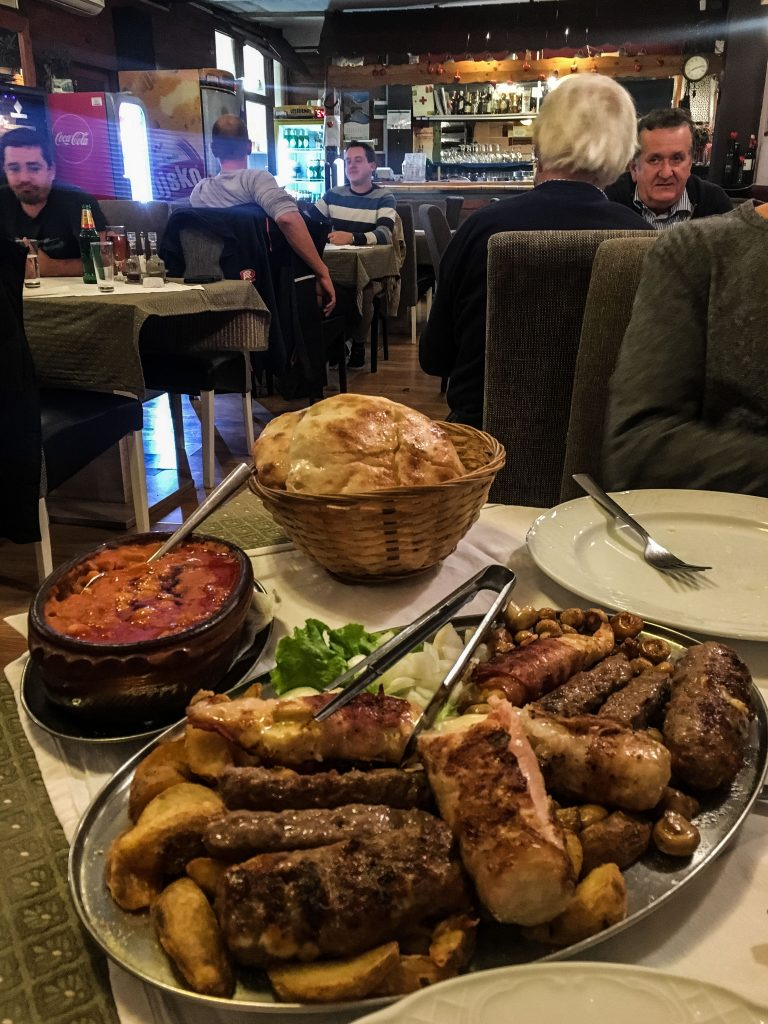 Big meal at Magazinska Klet