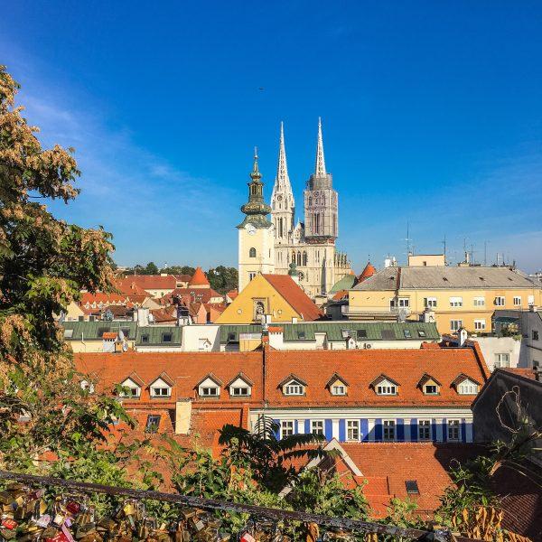 View over Zagreb Croatia