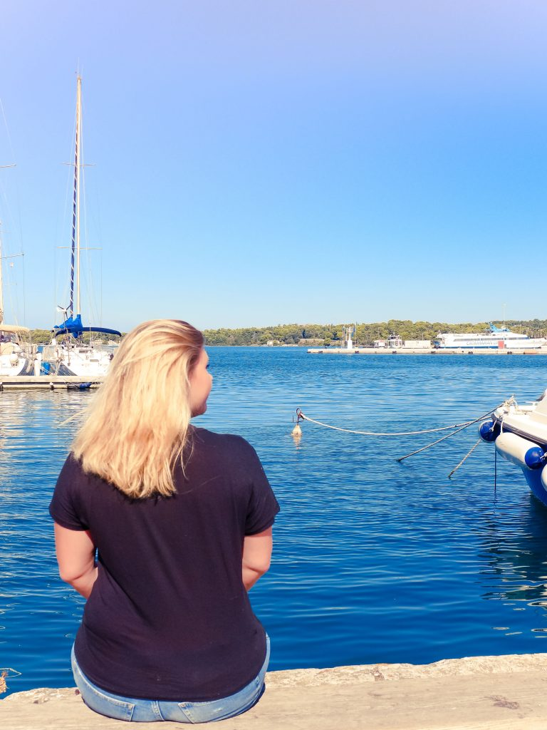 By the harbour in Pula