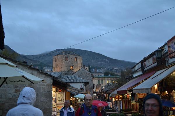 Walking round Mostar