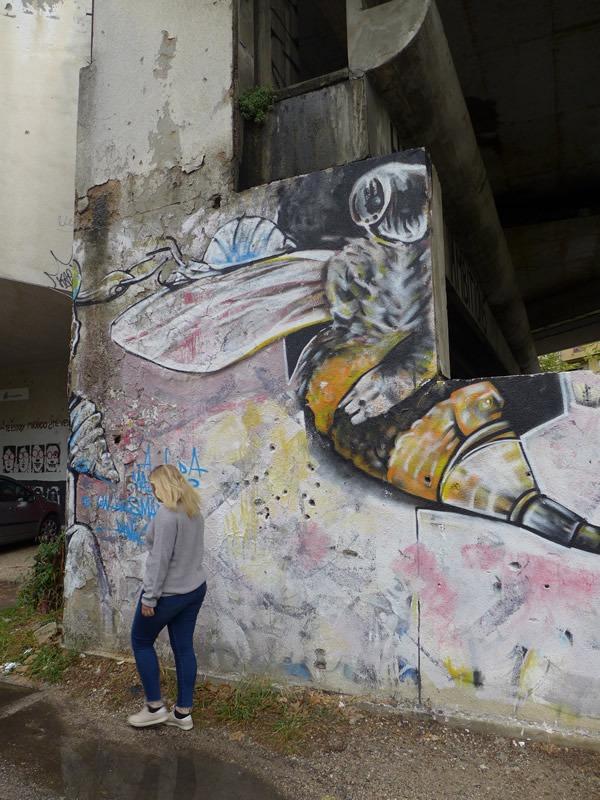 Mostar Snipertower Graffiti Livia