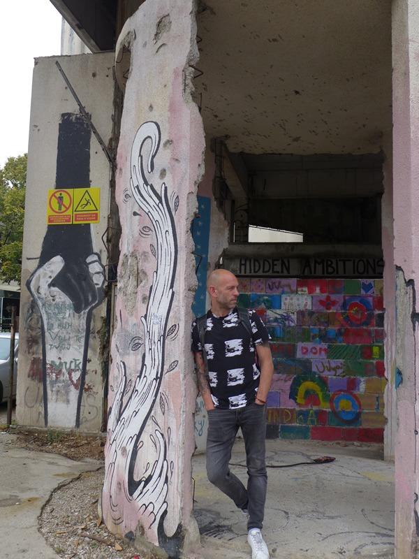 Mostar Snipertower Graffiti Sam