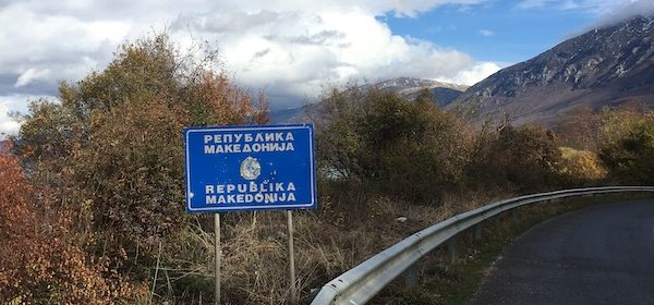 How to cross the land border between Albania and North Macedonia by foot