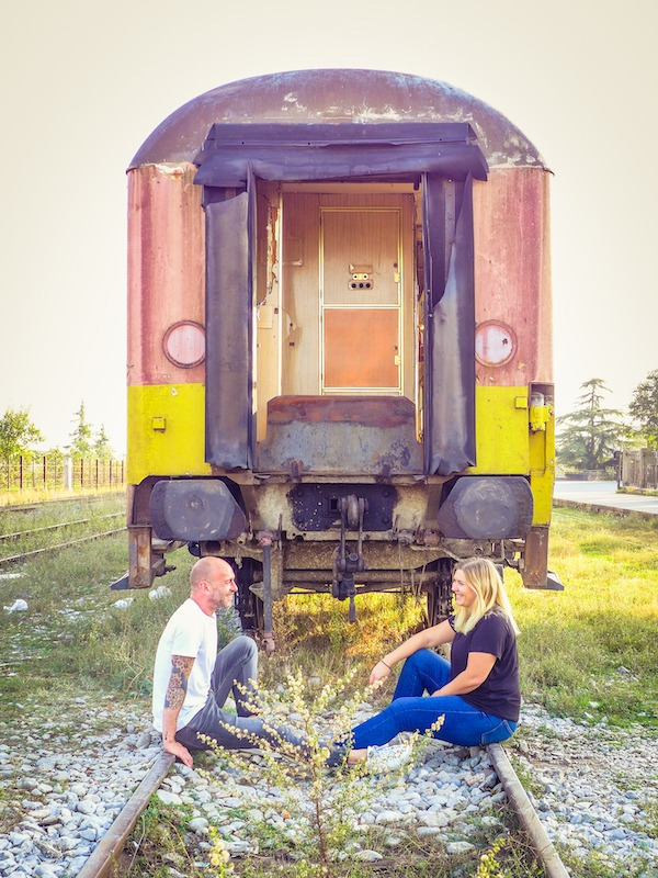 Abandoned train in Shkodra, Albania
